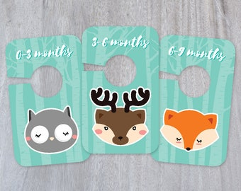 Printable Baby Closet Dividers and Labels