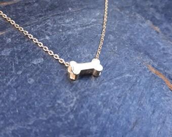 Dog Bone Necklace/Pet/Dogs/Dog Jewellery/Dog Necklace/Dog Bone Necklace/Dog Bone Jewellery/Tiny Dog Bone/Bone Charm Necklace