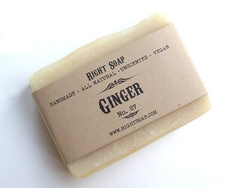 Ginger Soap - Handmade Soap - Soap - Vegan Soap - Natural Soap - Bar Soap - All Natural Soap - Handcrafted Soap - Ginger - Cold Process Soap