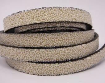 20 cm Strip flat effect caviar color 10mm Pearl