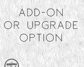 Add-on or upgrade to current order