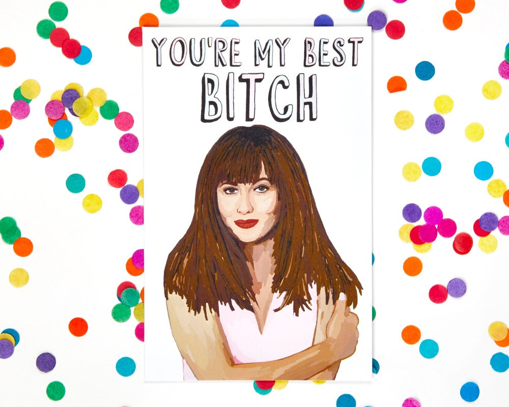 Galentines day card beverly hills 90210 birthday card zoom kristyandbryce Images