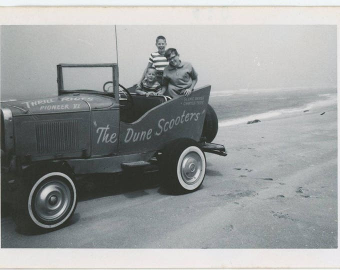 Vintage Snapshot Photo: Dune Scooters, c1960s [82653]