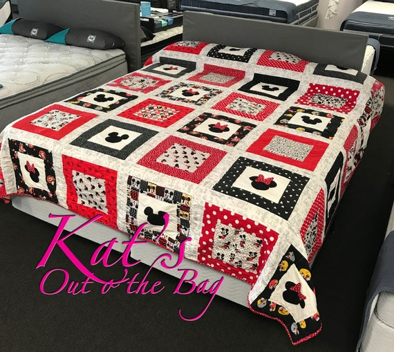 Minnie Mouse Quilt And Mickey Mouse Quilt Disney Themed