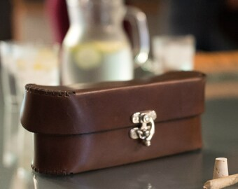 "The ""Classy Stash"" Leather Stash Box - Cannabis Accessories - Marijuanna Stash Organizer"