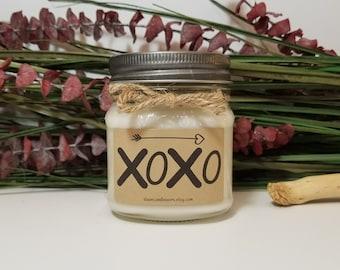 8oz XOXO Candle - Kisses Candle - Birthday Gift for Boyfriend - Husband Gift - Romantic Gift - Hugs Gift - Birthday Gift for Husband