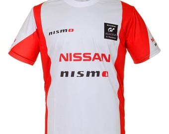 Nissan Nismo White Red Short Sleeve Cool T Shirt Auto Car Graphics Tee