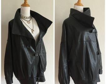 LEGIT Leather Motorcycle Goth Club Oversized Vintage Straight Jacket