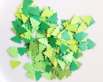 GREEN TREE Confetti Punches (100ct)