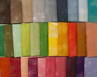 Grunge Basics Rainbow - Fat Eighth Bundle by Basic Grey 30 Fabrics - Great Stash Builder!
