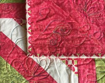 Rainbow Floral Quilt