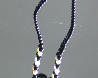 mother of pearl glass necklace