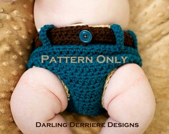 Instant Download PDF Denim Diaper Cover Crochet Pattern
