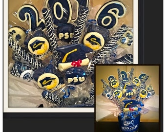 College gift basket etsy graduation chocolate gift basketcenterpieces commack ny pickup only negle Images