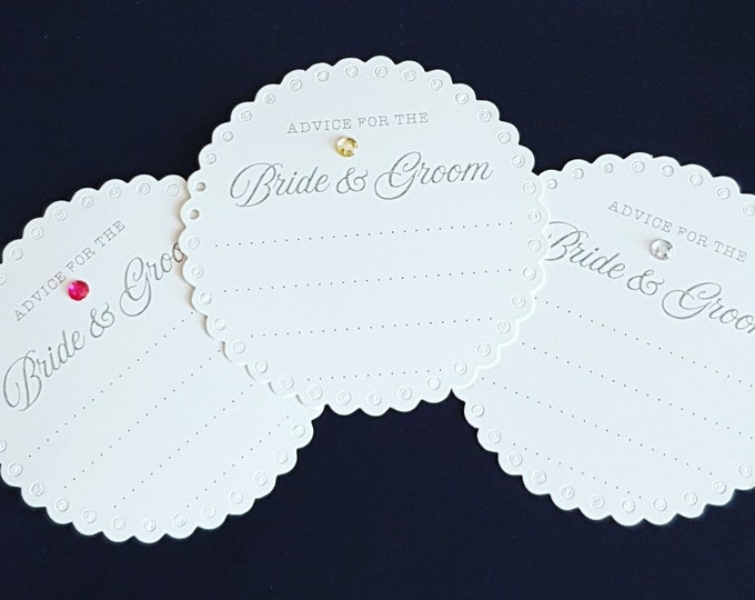 Wedding advice coasters Advice cards bridal shower hen party