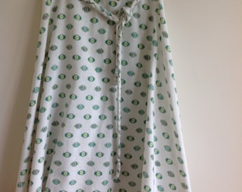 Floral midi wrap skirt size medium
