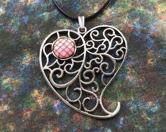 Large Heart Bobbin Lace Kit; Bobbin Lace Kit; jewellery making kit