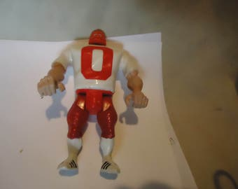 Vintage 1988 Real Ghostbusters Terror Haunted Humans Tombstone Tackle Football Player Figure by Columbia Pictures, collectable
