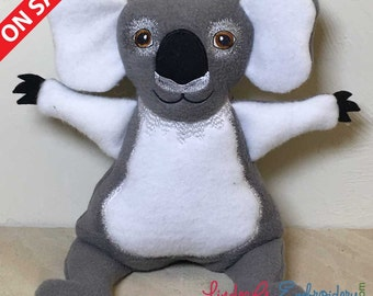 """In-the-Hoop Stuffed Extra Large Koala for 200mm x 300mm hoops (~8 x 12"""")"""