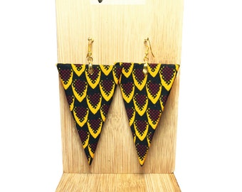 Wax 88 triangle earrings