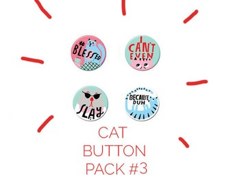 Cat Button Pack #3