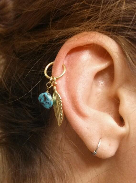 Helix piercing jewelry gold