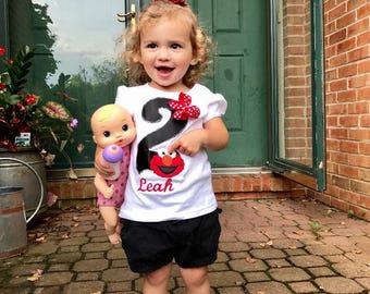 Elmo Birthday Shirt, Second Birthday Party Shirt, First Birthday Shirt, Elmo Birthday Party