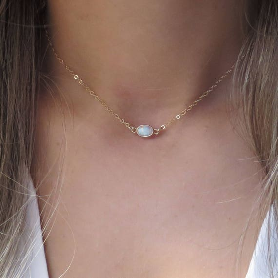 Short Opal Necklace