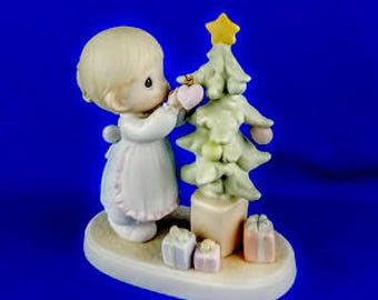 God Cared Enough To Send His Best Precious Moments Figurine