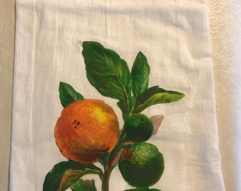 Orange flour sack towel