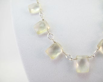 Citrine Rectangles in Necklace form