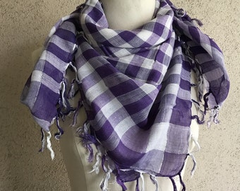 Lavender kefiyah scarf