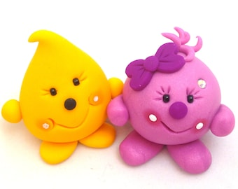 Parker & Lolly - Polymer Clay Figurine Set of Characters