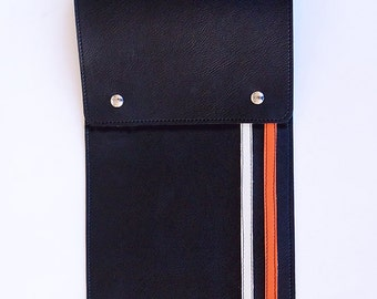 Racing Stripe Drumstick Bag - Classic Look - Sharp Handmade Vegan Radness