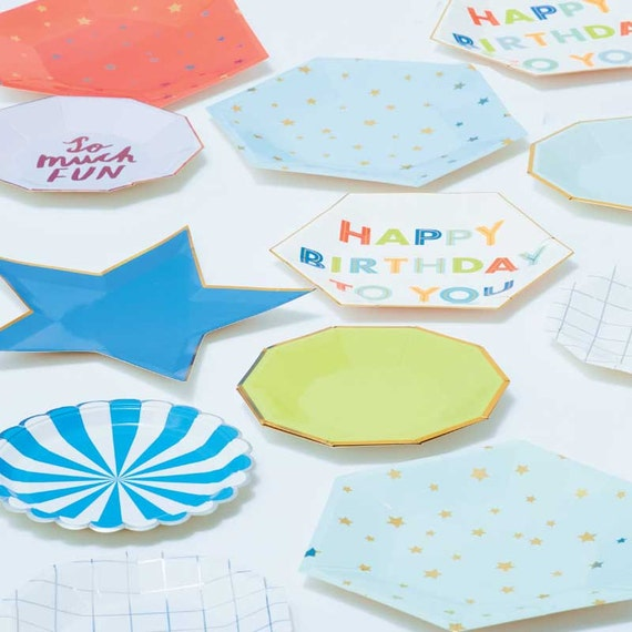 Star Shaped Plates (8) Meri Meri Jazzy Star Paper Plates Birthday Party Pastel Rainbow First Birthday Ideas Cottage Chic Party Decor  sc 1 st  Etsy & Star Shaped Plates 8 Meri Meri Jazzy Star Paper Plates