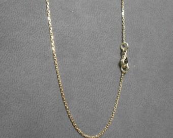 Chaîne forçat limée, or jaune 750/1000,bijoux cadeau pour elle