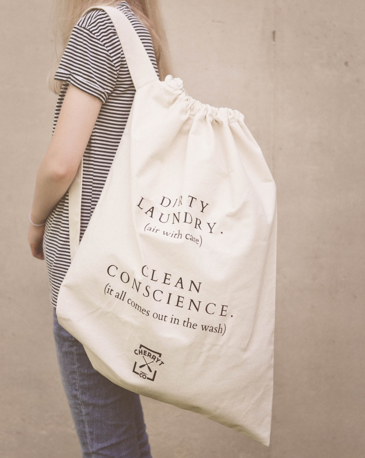Famous Summer Laundry Bag. Extra Large Eco Canvas Camp College ZN43