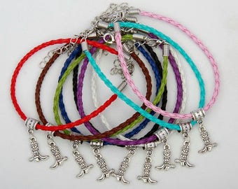 Beautiful Cowboy Boot Charm Bracelet