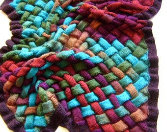 Autumns Bounty Entrelac Knitting Blanket PATTERN - Knit Your Own Blankets
