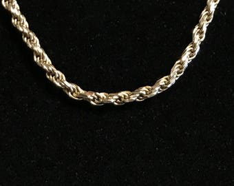 14K Gold Long Rope Chain