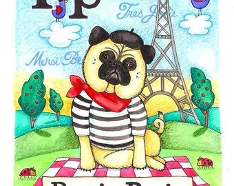 Pug In Paris