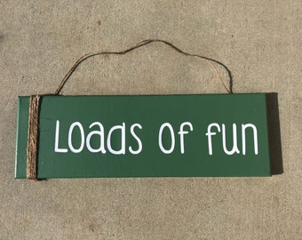 Loads of Fun laundry room canvas painting