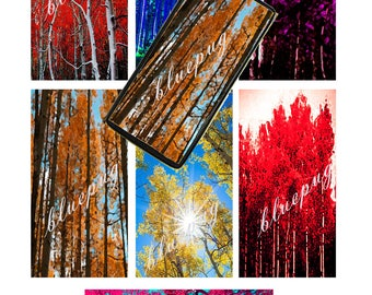 """Apen Trees Mix Domino Images 1""""x2""""  Photo Quality 4x6 Sheet Digital Download jpg Printable INSTANT DOWNLOAD"""