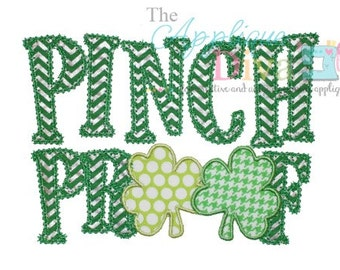 St Patrick's Day Pinch Proof Digital Embroidery Design Machine Applique