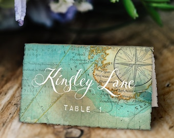 Travel Theme Tented Place Cards, Printable, Customized with Your Details!