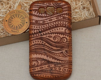 Psychedelic Wood Phone Case Wavy iPhone 8 X 7 7 plus 6 6s 6 plus 5 5s 5C Custom Design Cherry Wooden Cover