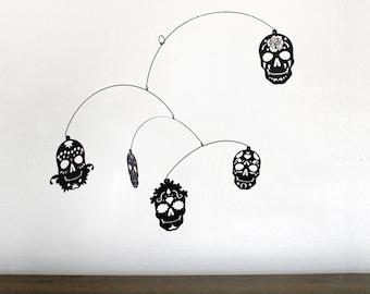 Hanging Mobile | DIA de LOS MUERTOS (Day of the Dead sugar skull design)