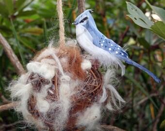 Bird Nesting Ball Alpaca Filled