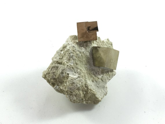PYRITE CUBES in MATRIX// Natural Pyrite Matrix/ Healing Gemstone// Fools Good// Pyrite// Home Decor// Healing Tools// Raw Healing Crystals//