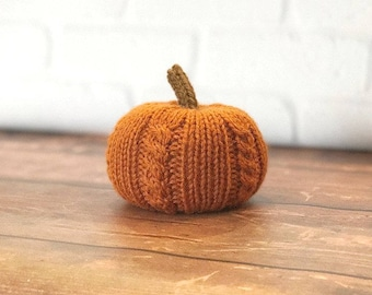 Cabled Knit Pumpkins, Fall Decor, Cabled Stuffed Pumpkins, Halloween, Thanksgiving Decor, Pumpkin Decor, Thanksgiving Table Decor